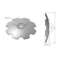 Диск на борону ПД 2,5 вырезной бор