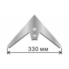 Лапа стрельчатая КПС 330 мм /шепетовская/ (кованая, каленая) бор