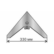 Лапа стрельчатая КПС 330 мм /одесская/ (кованая, наплавленная) бор
