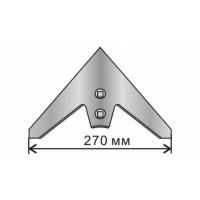 Лапа стрельчатая КПС 270 мм (кованая, наплавка) бор