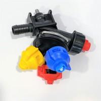 Форсунка тройная концевая шланговая ARAG Agroplast AP0-100/G08/K/P |225160|