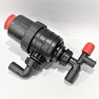 Фильтр опрыскивателя всасывающий малый с запорным клапаном (колено 32 мм) Agroplast AP16FSM_32 |224200|